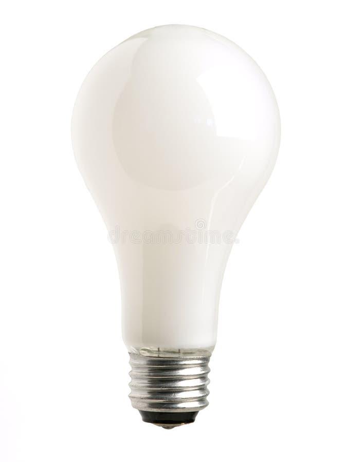 White Light Bulb on white royalty free stock images