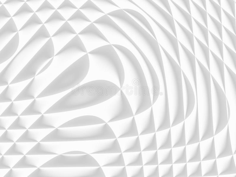 White and light grey futuristic pattern. Monochromatic design for backgrounds, templates, backdrops, surface, textile and fabric royalty free stock images