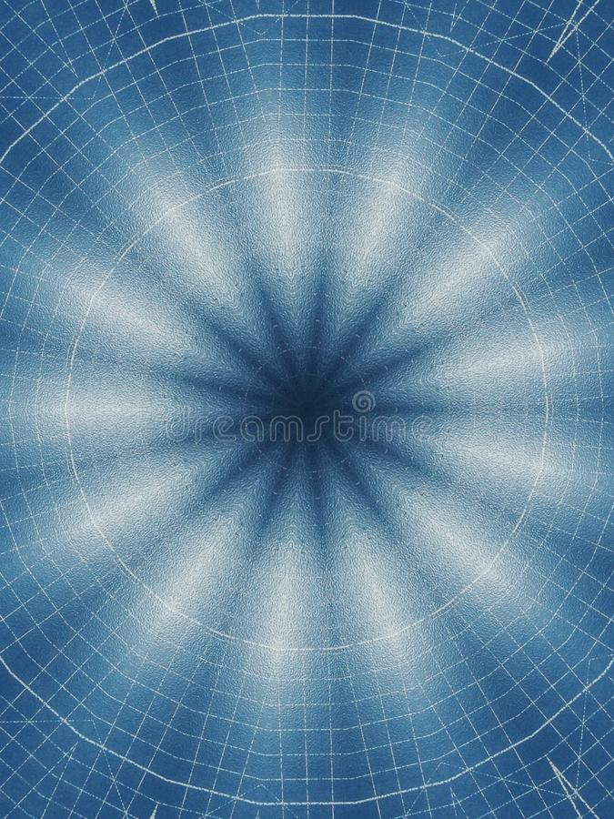 The white light radius in the blue surface is rectangular grid pattern. stock photos