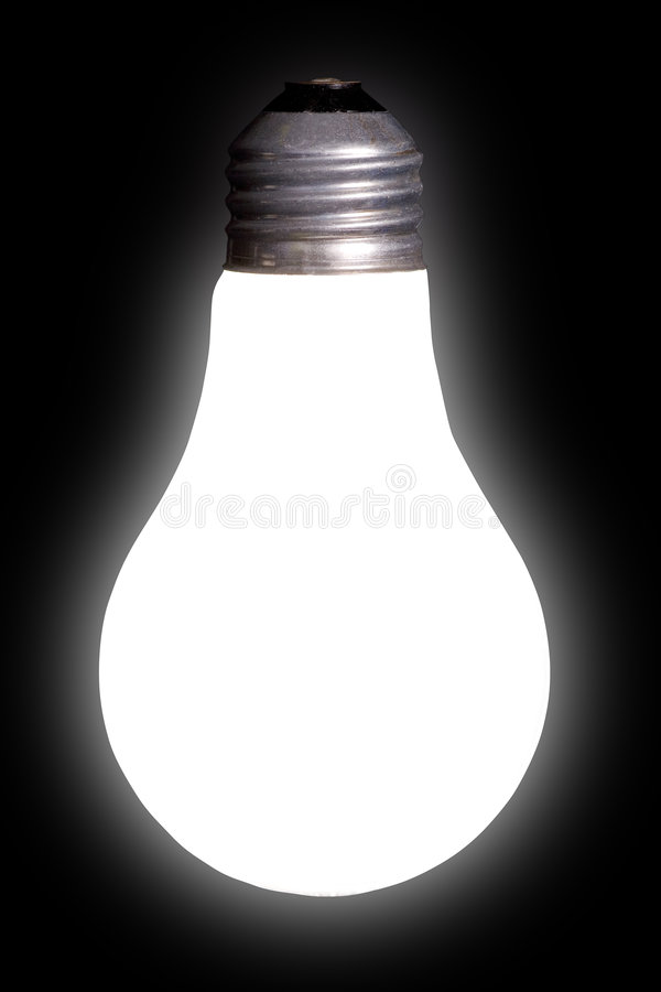 White Lightbulb on Black royalty free stock photos