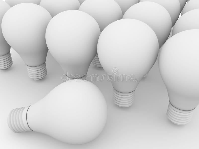 Download White lightbulbs stock illustration. Image of power, contact - 25658277