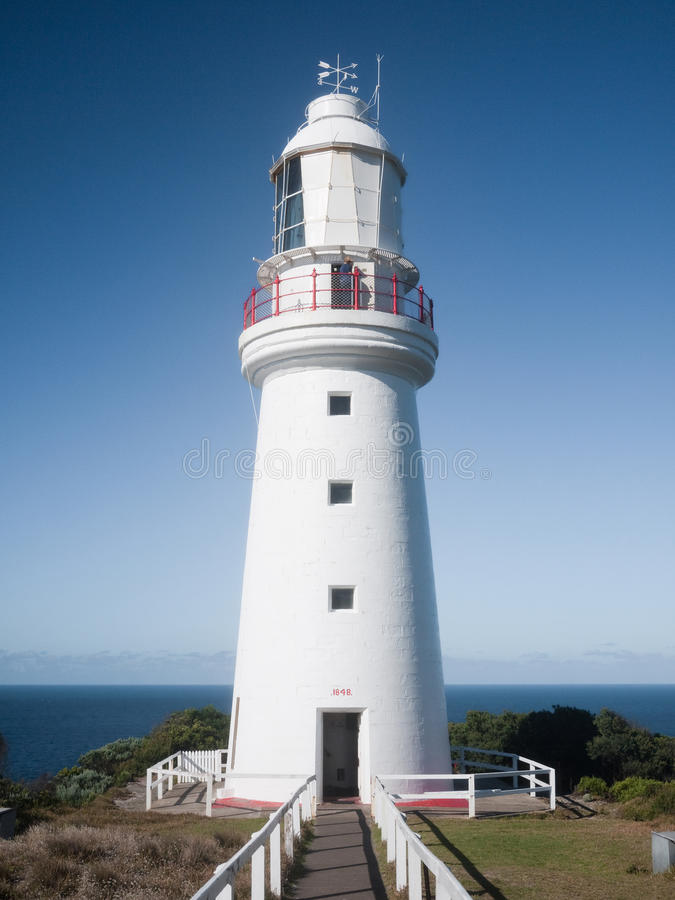 White Lighthouse. In Australia, Great Ocean Road royalty free stock photography