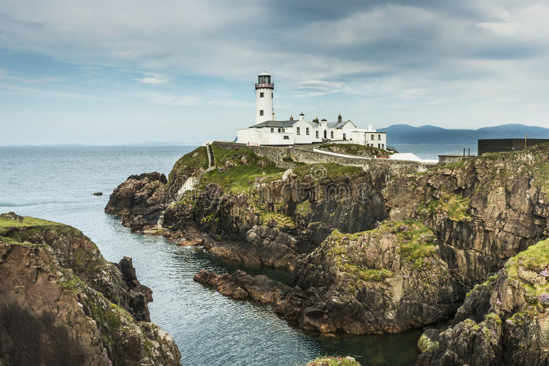 White Lighthouse, Fanad Head,. County Donegal, Ireland stock images