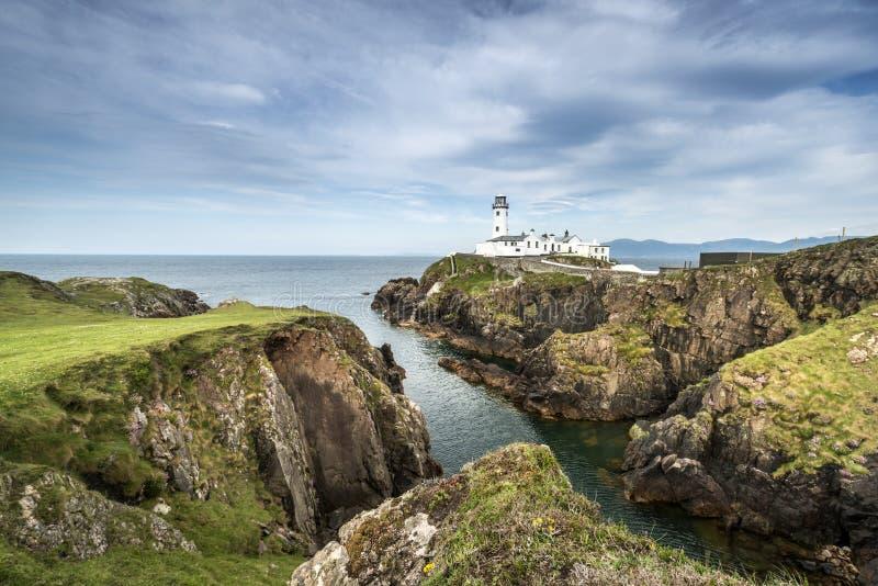 White Lighthouse, Fanad Head, North Ireland. White Lighthouse, Fanad Head, County Donegal, North Ireland stock photo