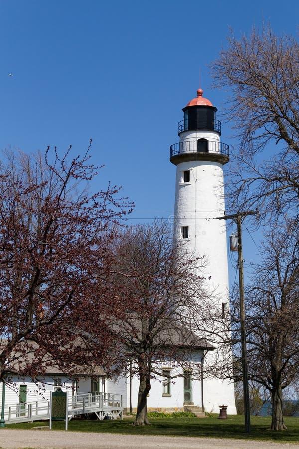 White lighthouse in Port Huron, USA