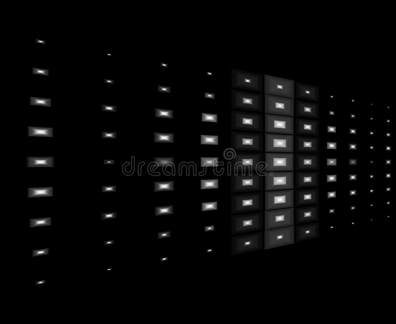 White lights with black background royalty free stock photography