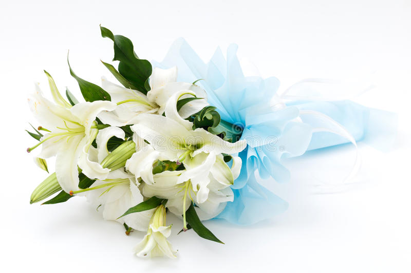 Download White Lily Bouquet Stock Photo - Image: 29072300