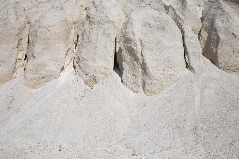 White limestone minerals. Can be used as wallpaper for a monitor royalty free stock images