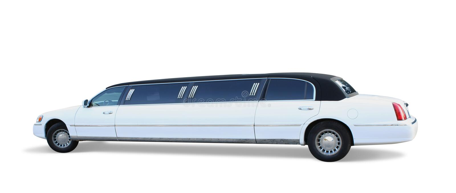 White Limousine stock photo