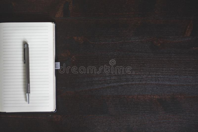 White Lined Paper With Click Pen stock photography