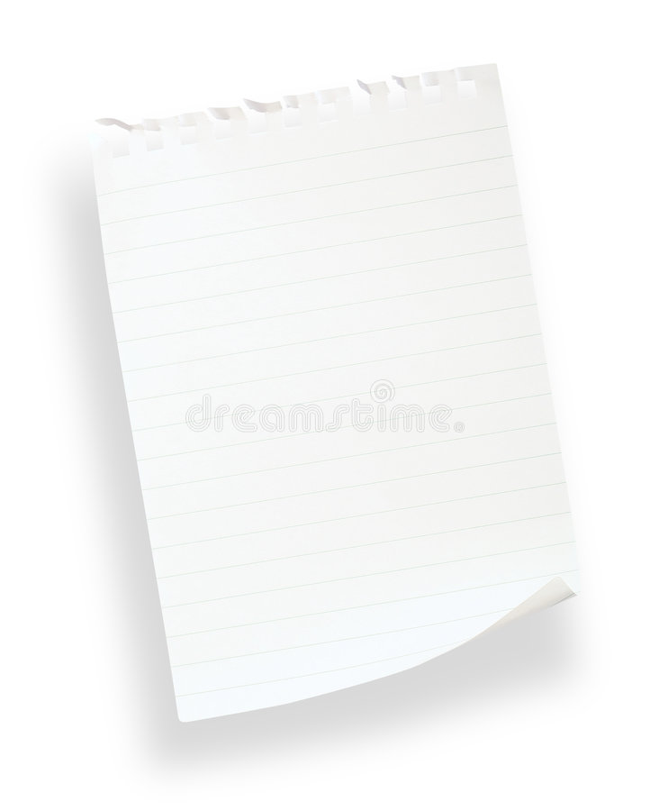 Download White Lined Paper(with Clipping Path) Stock Image - Image: 1715159