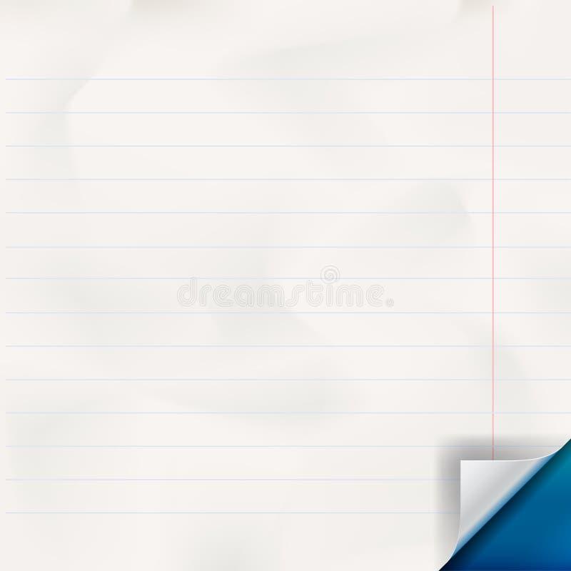 White lined paper texture. Vector Eps 10 illustration vector illustration