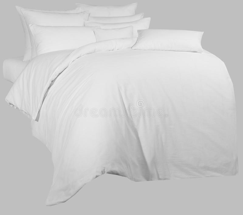 White linen kit, for graphic processing, on a neutral backgrou stock photography