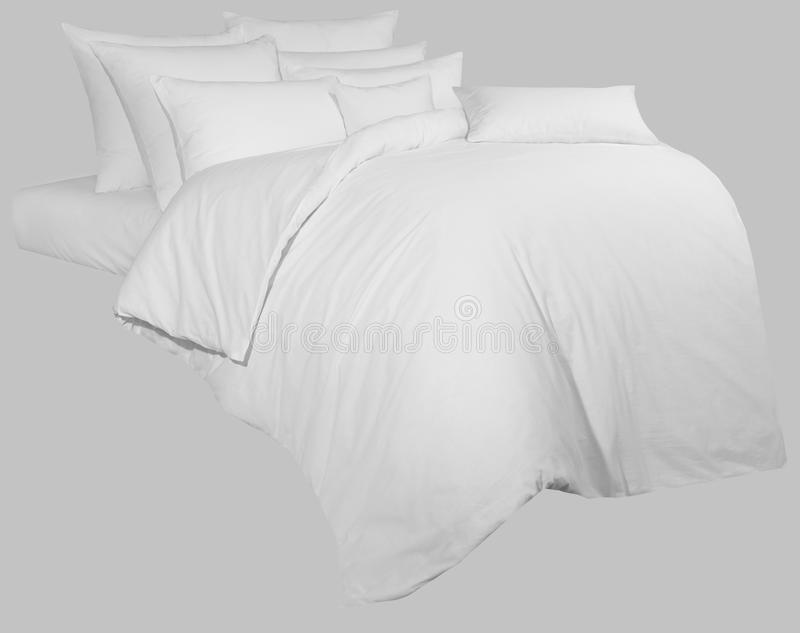 White linen kit, for graphic processing, on a neutral backgrou royalty free stock photography