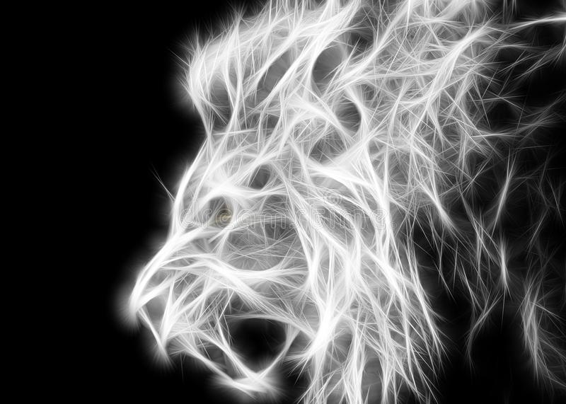 White lion. Background with colors ideal for posters, backgrounds and more stock images