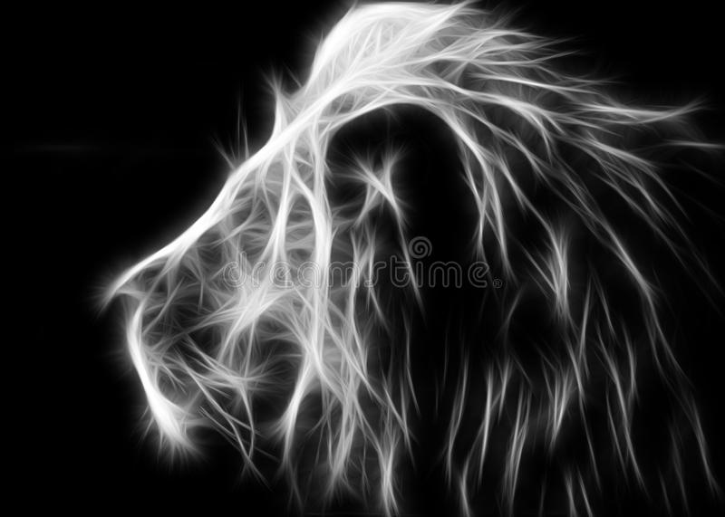 White lion. Black background with colors ideal for posters, backgrounds and more vector illustration