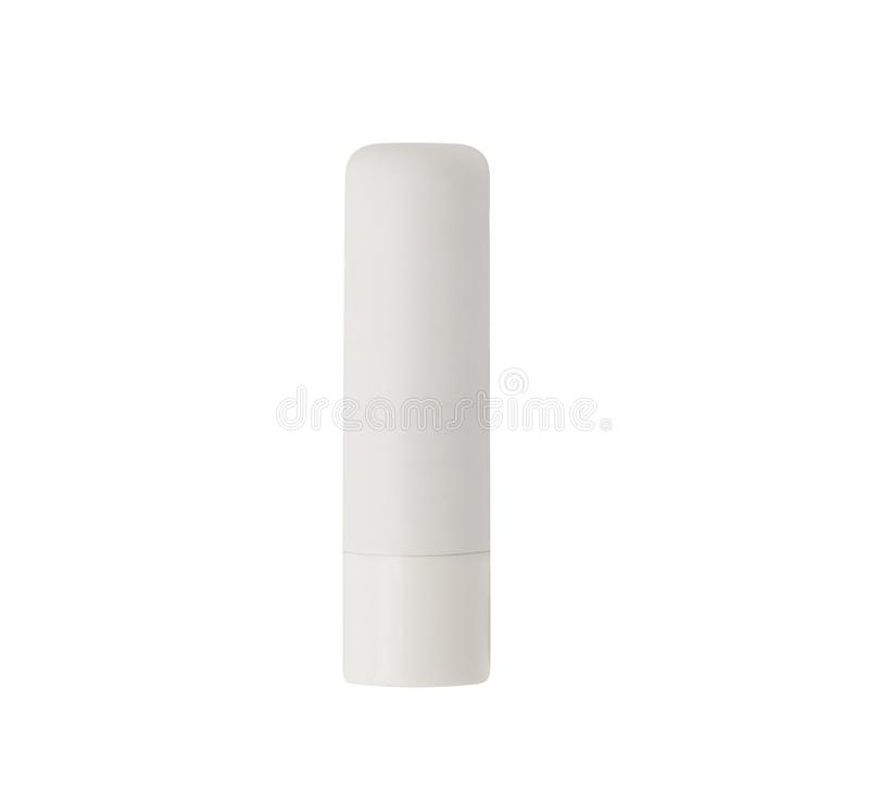 Free White Lipstick Tube With Chapstick Or Lip Balm Stock Image - 151342271
