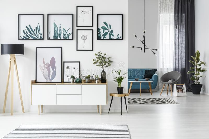 White living room stock illustration