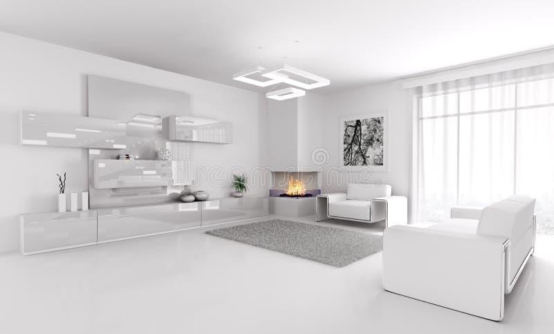 white living room interior 3d stock illustration illustration of