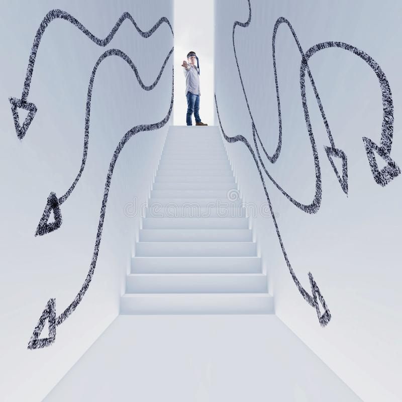 White lobby arrows royalty free stock image