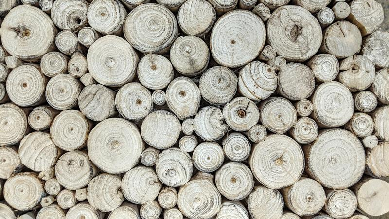 White logs of wood royalty free stock photos