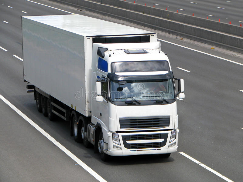 White lorry royalty free stock photo