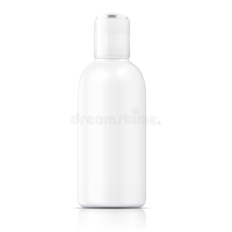 White lotion bottle template. vector illustration