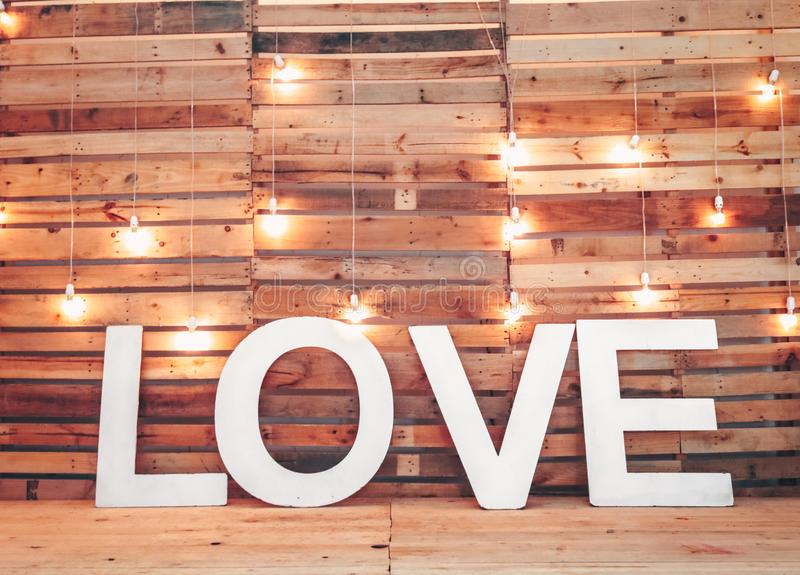 White Love Free Standing Letters royalty free stock image