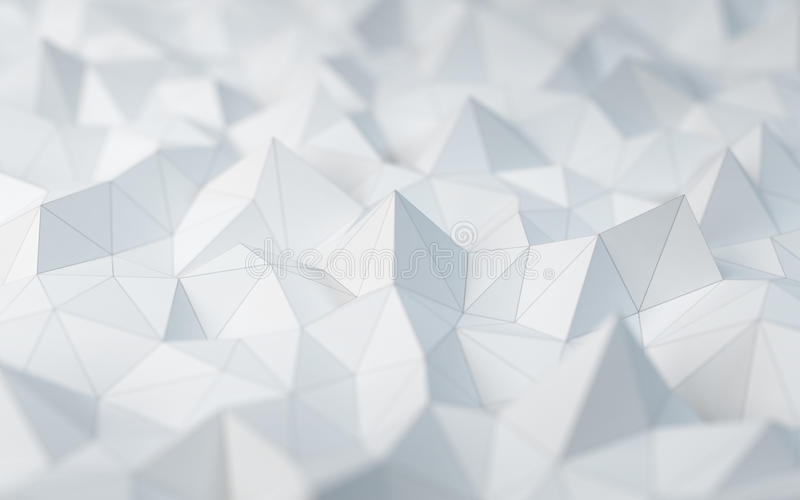 White Low Poly Background