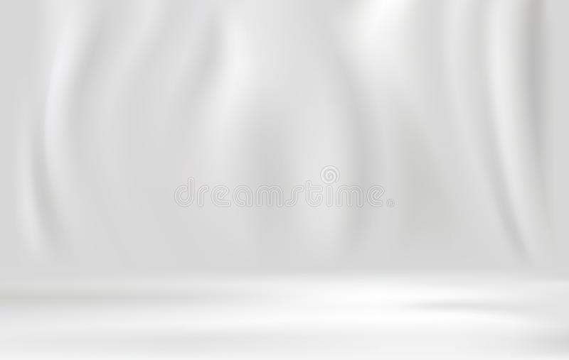 White luxury fabric background with copy space vector illustration royalty free illustration