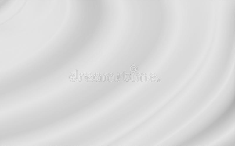 White luxury fabric background with copy space. For design work stock illustration