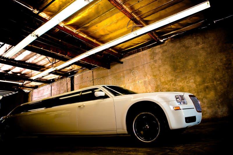 White Luxury Limousine royalty free stock photos