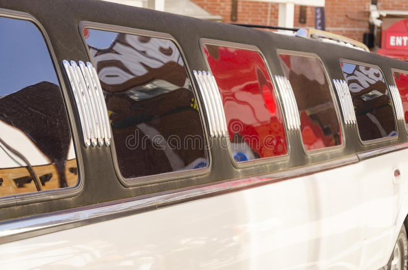 White luxury limousine royalty free stock photography