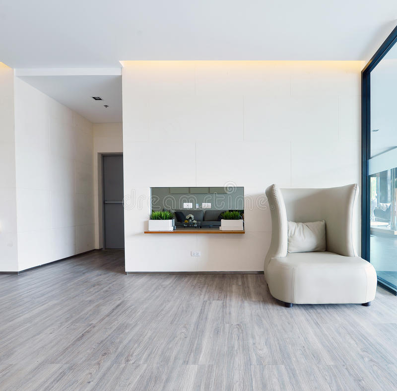 white luxury modern living interior and decoration, interior design stock photography