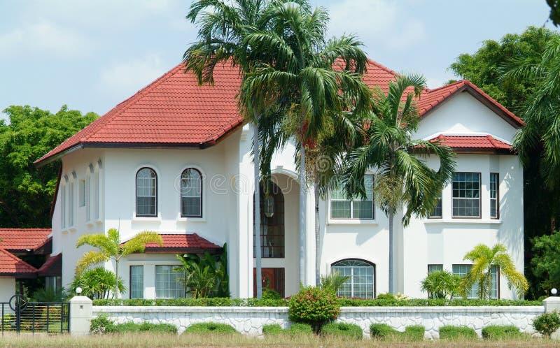 White luxury villa stock photography