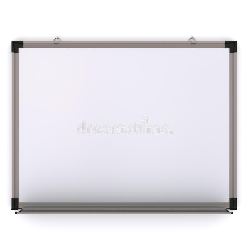Download White Magnetic Board On The Wall Stock Illustration - Image: 19693810