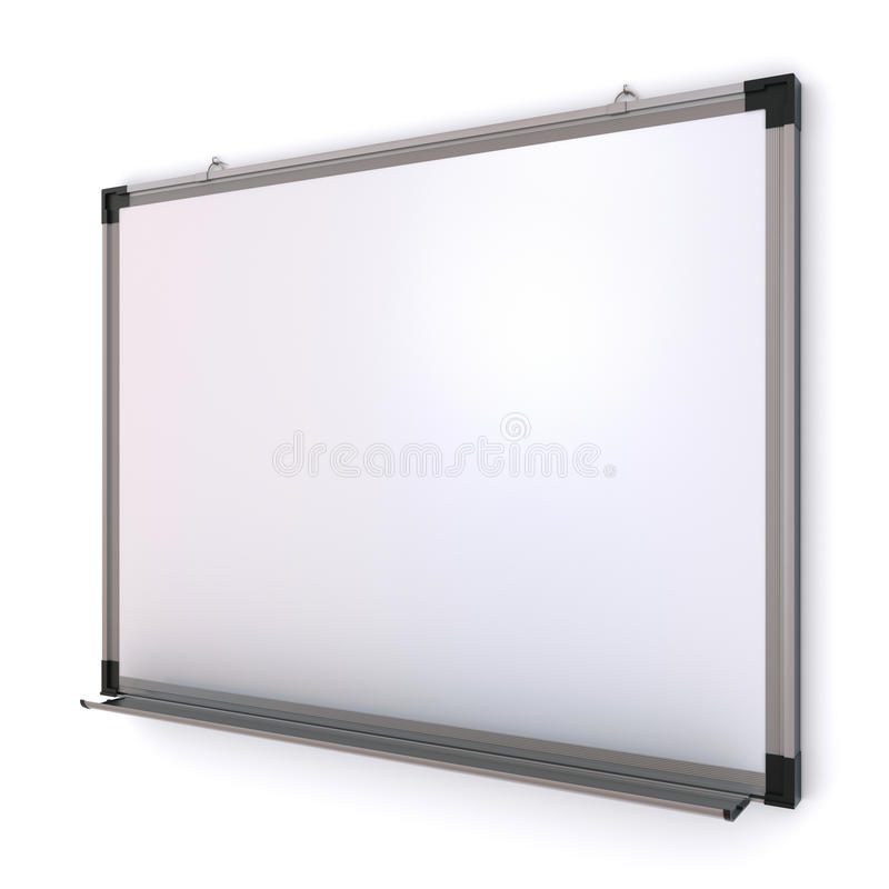 White Magnetic Board On The Wall Stock Image