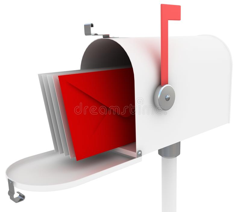 Download White Mail Box With Special Red Letter. Stock Illustration - Image: 25306313