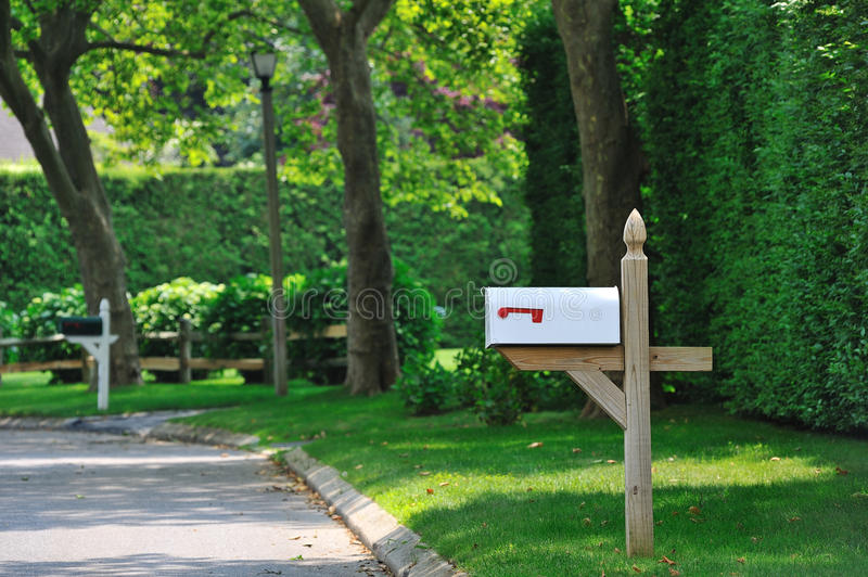 Download White mailbox stock image. Image of entrance, fence, house - 20250965