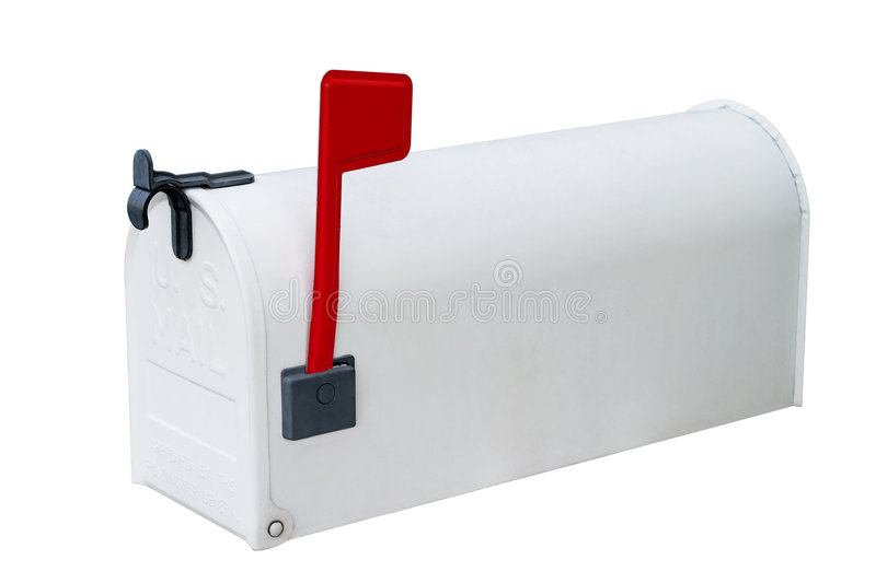 Download White Mailbox W/closed Door Stock Image - Image: 1354933