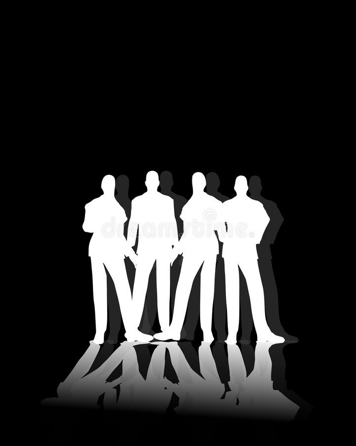 Download White Male Silhouettes stock illustration. Illustration of illustration - 6167883