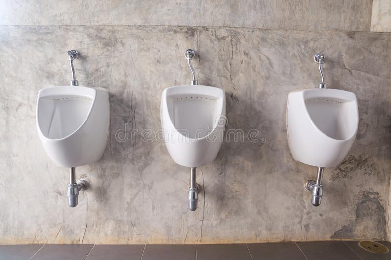 White Male urinal royalty free stock photography
