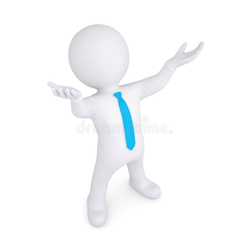 Download White Man Raised His Hands Up Stock Illustration - Image: 32540534