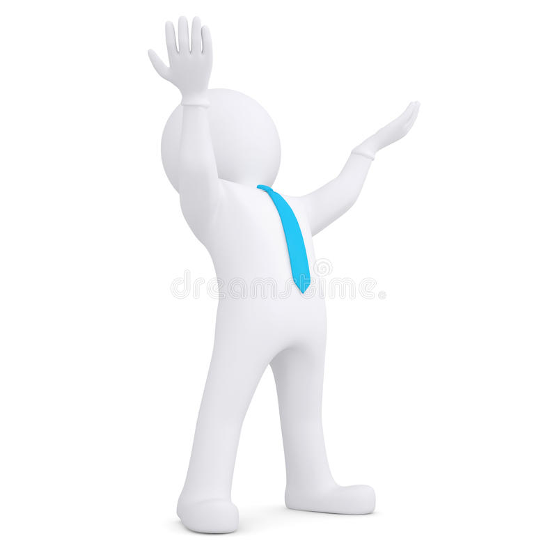 Download White Man Raised His Hands Up Royalty Free Stock Photo - Image: 32664305