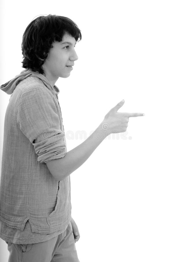 Download White Man Showing With Finger Stock Photo - Image: 19144202