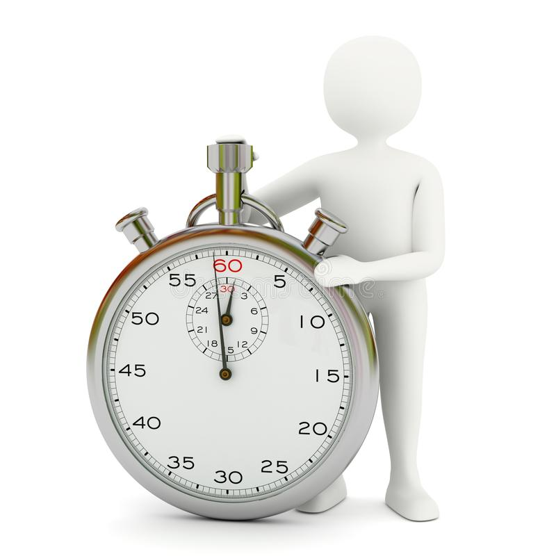 White Man With Stopwatch Royalty Free Stock Image