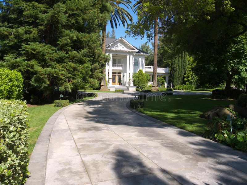 Download White Mansion In Park Like Setting Stock Image - Image: 14210027