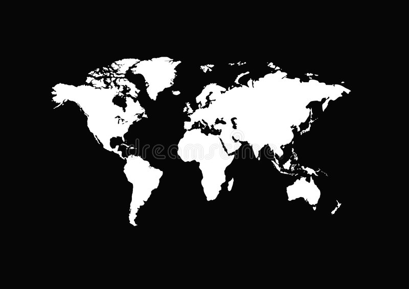 Download White map of the world stock vector. Image of australia - 2579997