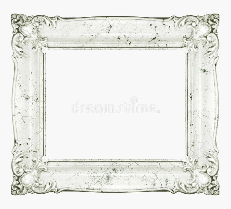 White marble baroque frame stock image. Image of decorated - 51288085