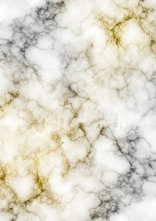 White Marble with Gold Glitters royalty free illustration